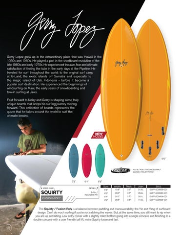 Page 10 of Surfboards: Gerry Lopez Squirty by Surftech