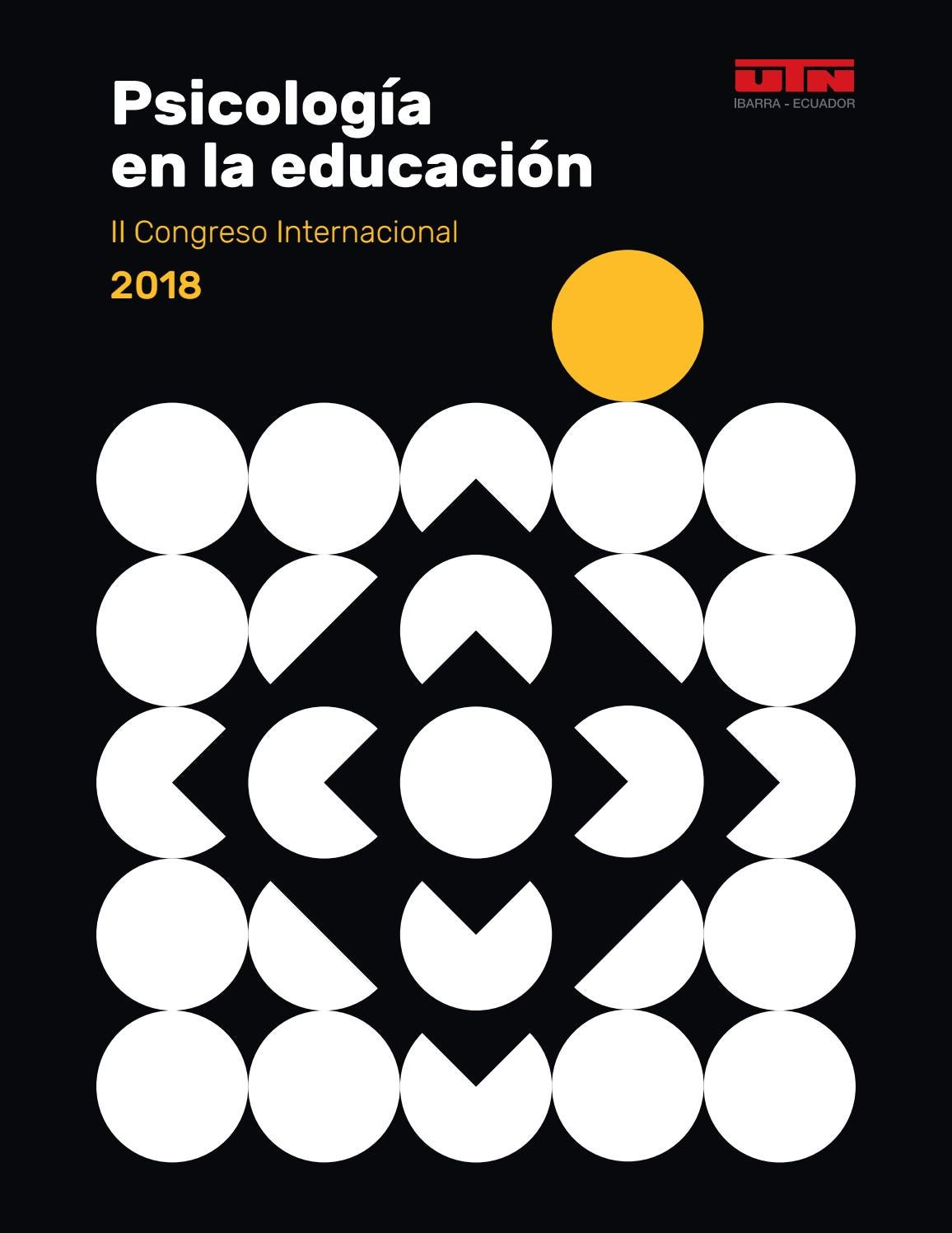 Psicología En La Educación Ii Congreso Internacional 2018 By