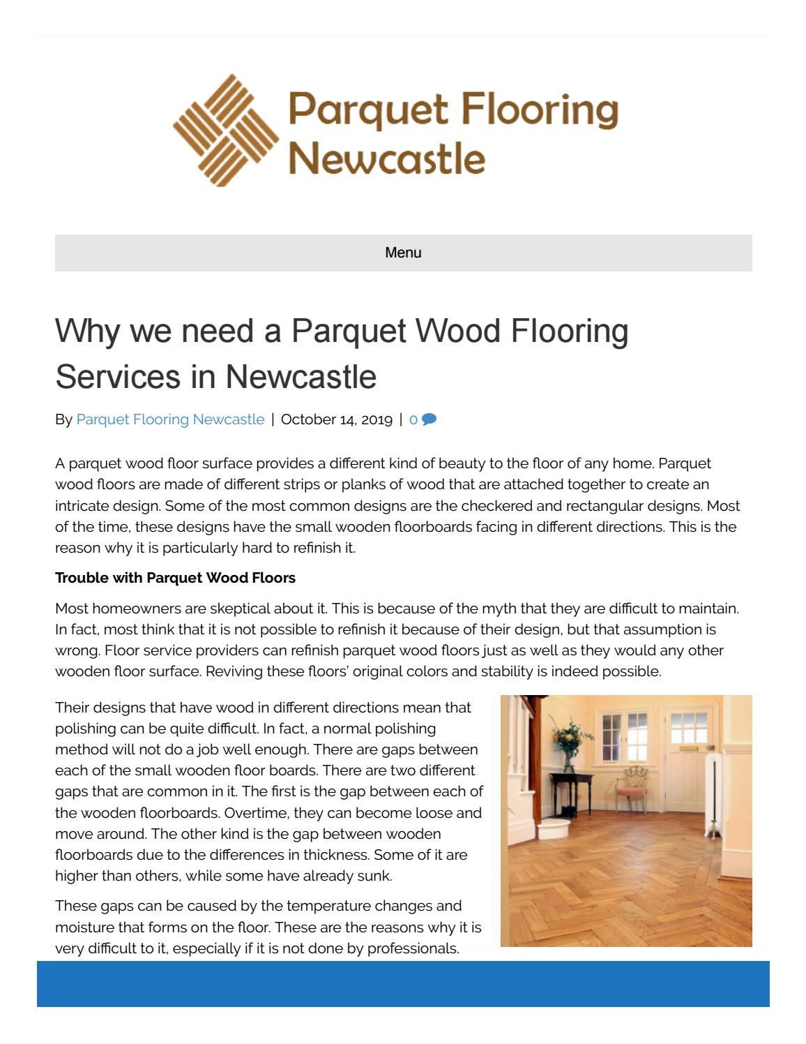 Why We Need A Parquet Wood Flooring Services In Newcastle By