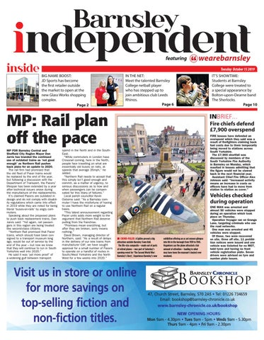 Barnsley Independent Featuring We Are Barnsley 15 10 2019 By Barnsley Chronicle Issuu
