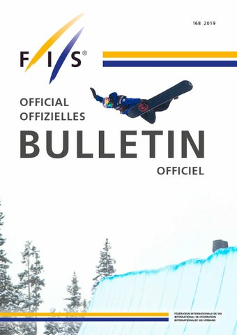 Fis Bulletin 2019 By Fis Issuu