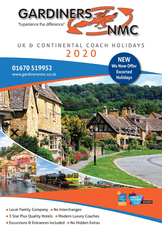 Gardiners Nmc Brochure North 2020 By Gardiners Nmc Coach Holidays Issuu