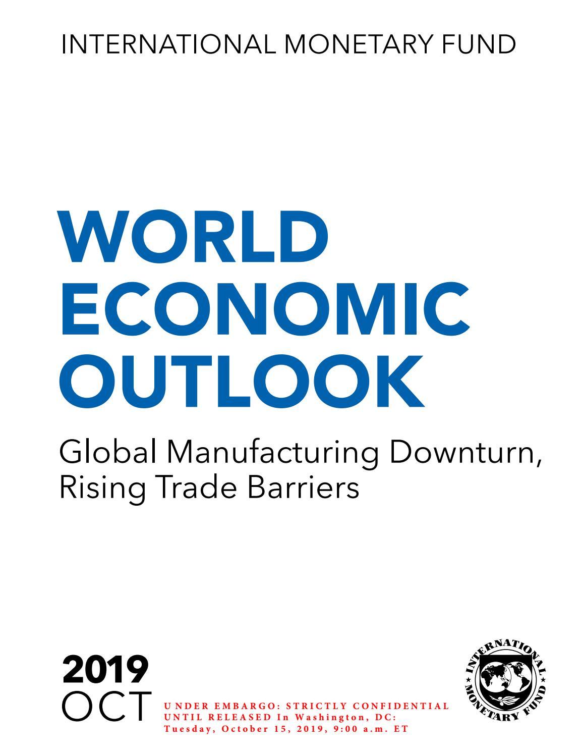 Imf World Economic Outlook By Efhmerida Twn Syntaktwn Issuu