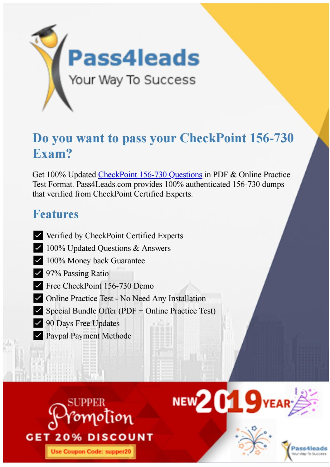 Check Point Accredited Sandblast Administrator Test 156-730 Exam QA+Simulator