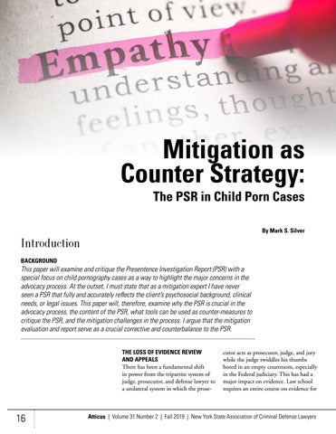 Page 16 of Mitigation as Counter Strategy: The PSR in Child Porn Cases