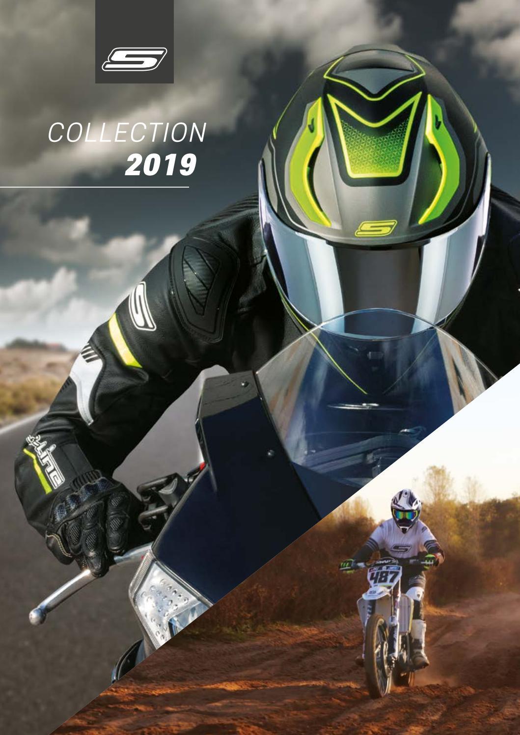 SWAPS Casque Moto Cross Blur S818 Noir Blanc Mat Homologu/é ECE R22-05
