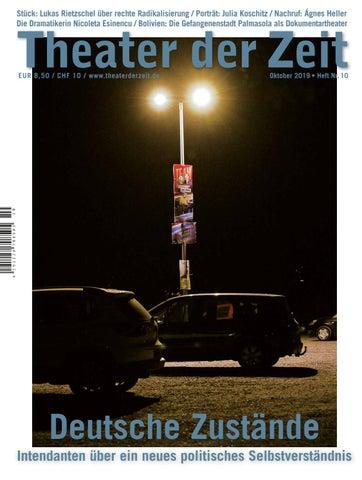 Theater Der Zeit 10 2019 By Theater Der Zeit Issuu