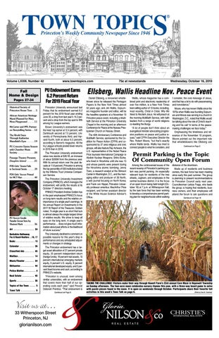 Excellent Town Topics Newspaper October 16 By Witherspoon Media Group Ncnpc Chair Design For Home Ncnpcorg