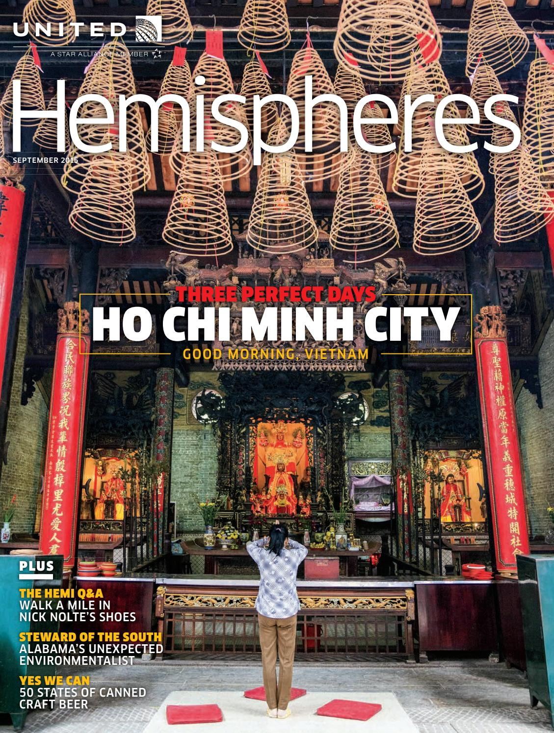 United Airlines Hemispheres Magazine September 2015 By Ahmed