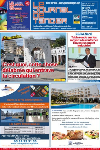 Le Journal De Tanger 21 Septembre 2019 By Le Journal De