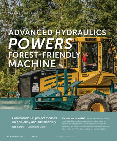Page 38 of Advanced hydraulics powers forest-friendly machine
