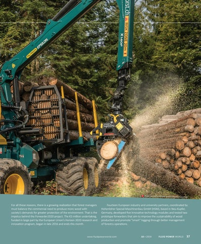 Page 39 of Advanced hydraulics powers forest-friendly machine