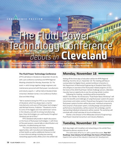 Page 60 of The Fluid Power Technology Conference debuts in Cleveland