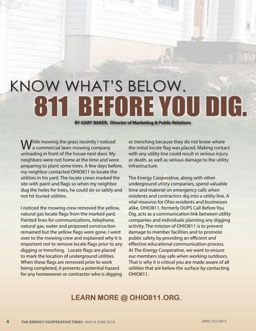 Page 4 of Know What's Below 811 Before You Dig