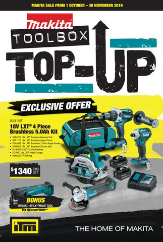 Makita Toolbox Top Up Promotion 2019 By Itm Support Office