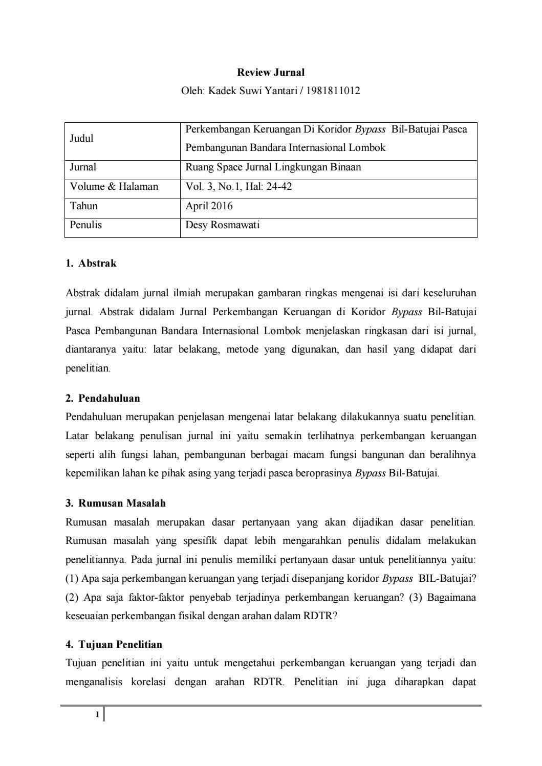 Latar Belakang Review Jurnal