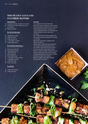 Page 28 of Tofu Peanut Satay and Cucumber Skewers