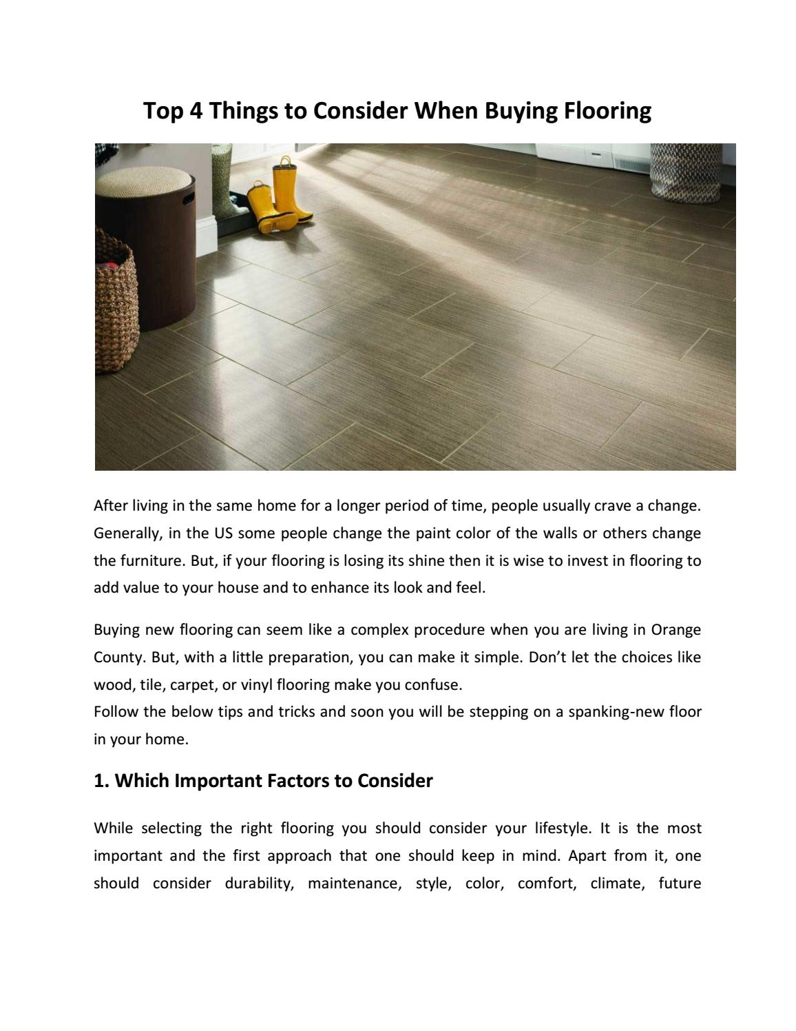 Top 4 Things To Consider When Buying Flooring By Flooring Discount
