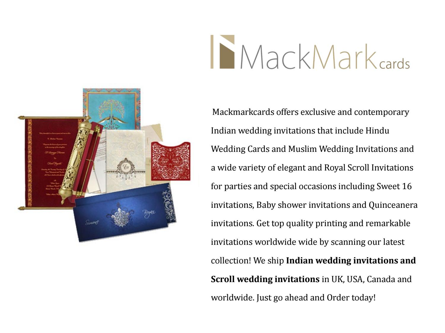 Mackmarkcards Indian Wedding Cards Scroll Wedding Cards By Seo