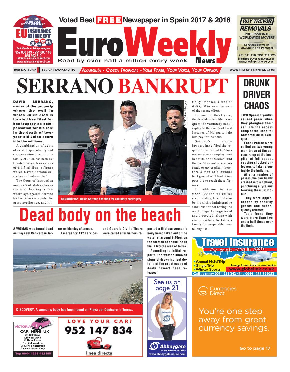 Euro Weekly News - Axarquia 17 - 23 October 2019 Issue 1789 ...