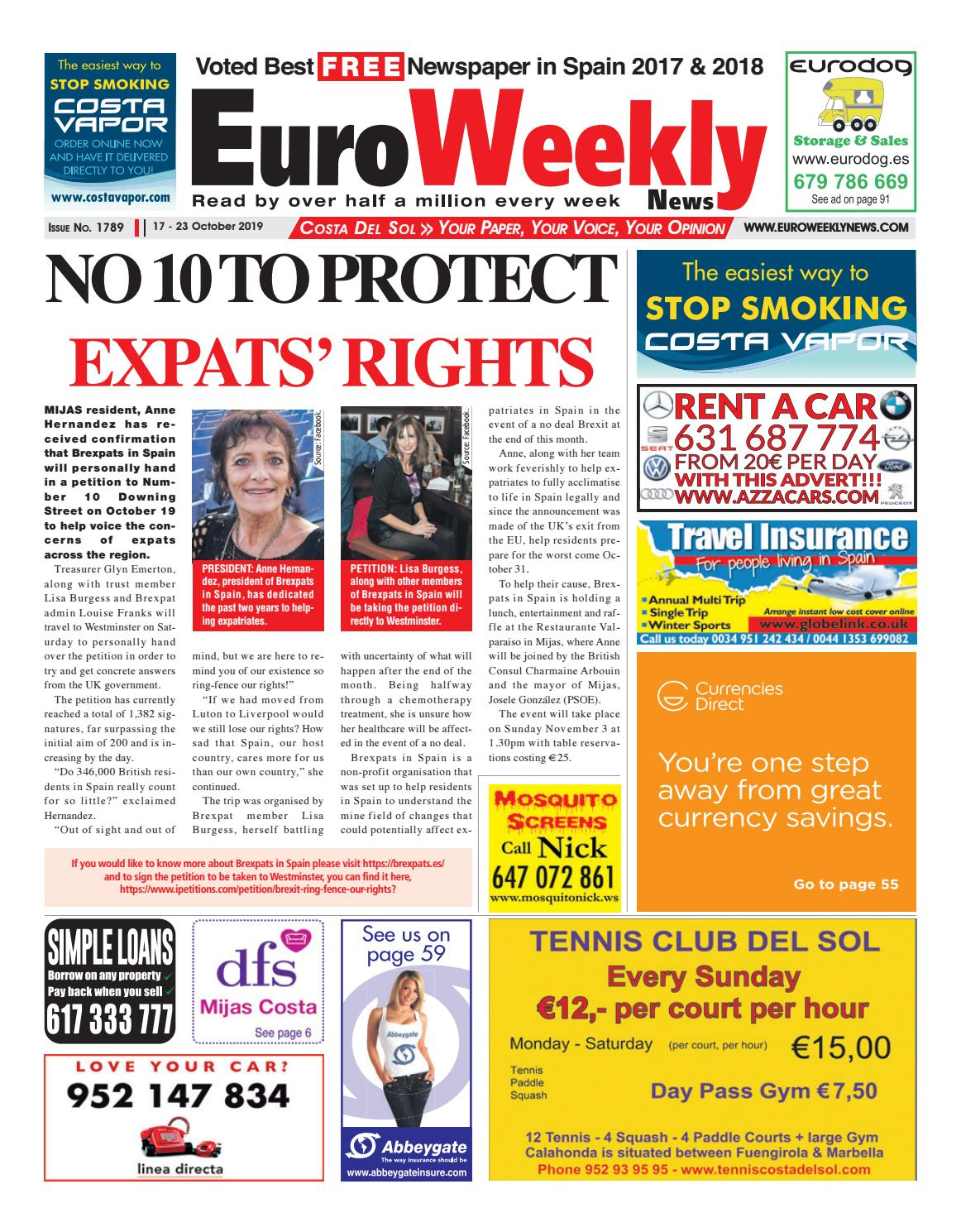 Euro Weekly News Costa Del Sol 17 23 October 2019 Issue 1789