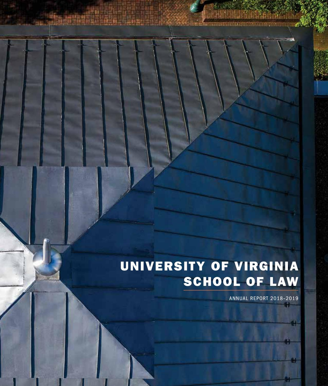 Uva Law 2018 19 Annual Report By University Of Virginia School Of Law Issuu