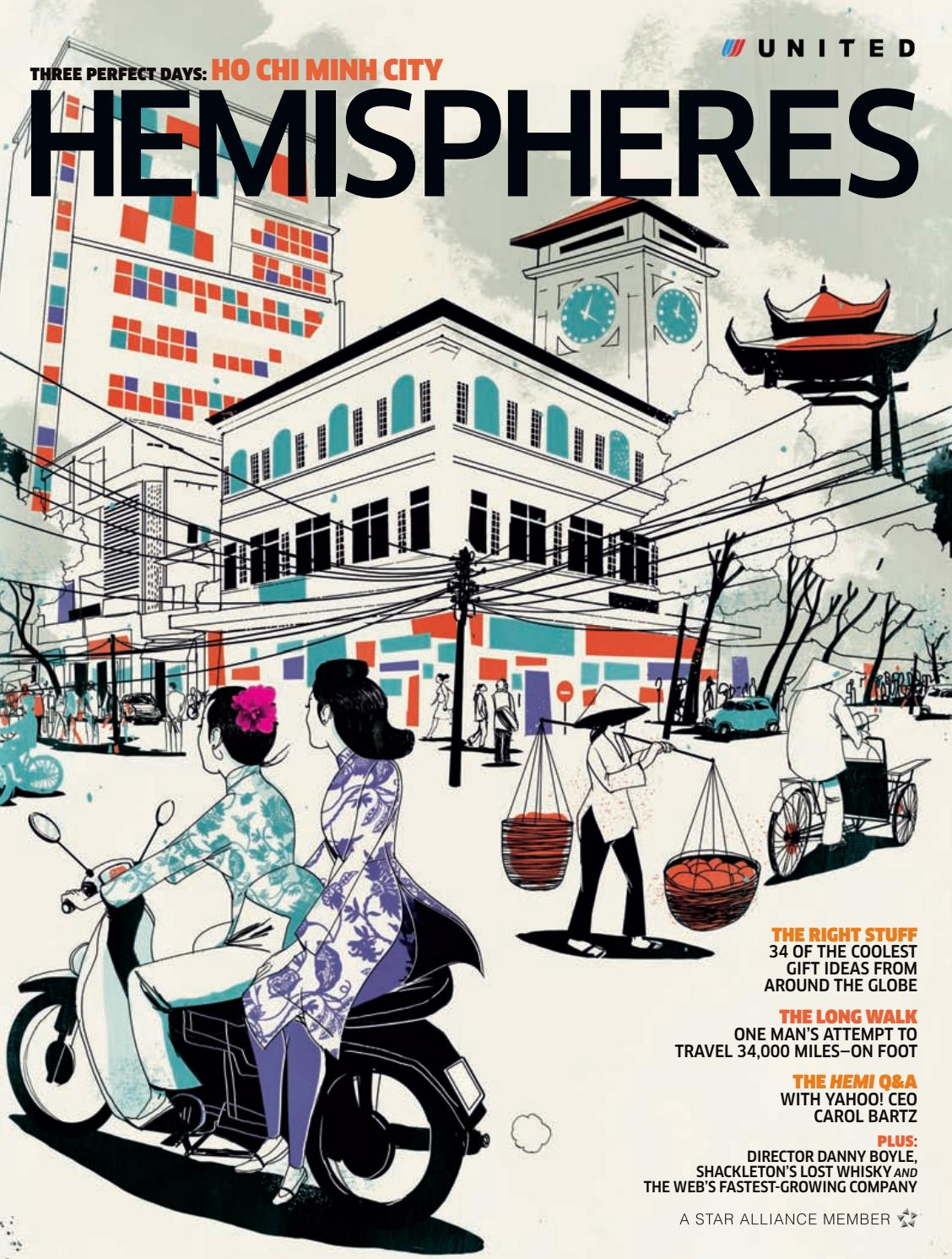 United Airlines Hemispheres Magazine November 2010 By Ahmed