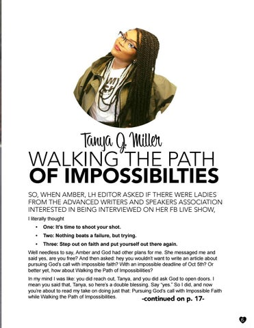 Page 15 of Tanya J. Miller: Walking the Path of Impossibilities