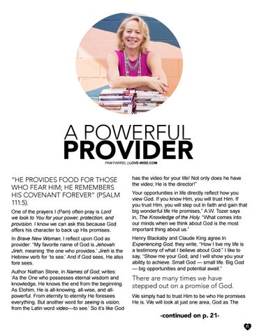Page 19 of A Powerful Provider by Pam Farrel