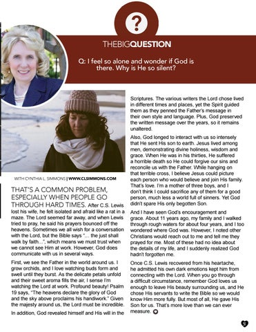 Page 31 of The Big Question with Cynthia L. Simmons