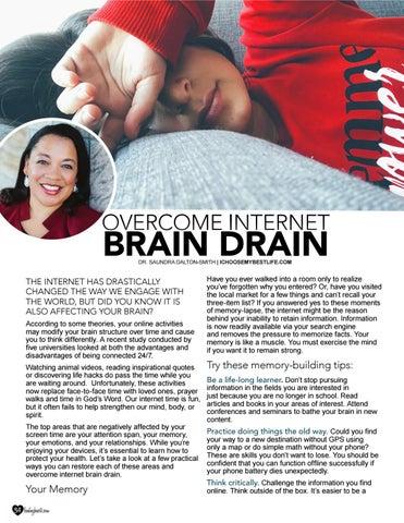 Page 34 of Overcome Internet Brain Drain by Dr Saundra Dalton Smith