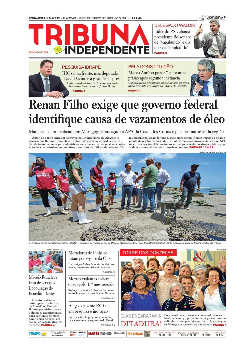 Edição número 3501 -18 de outubro de 2019 by Tribuna Hoje