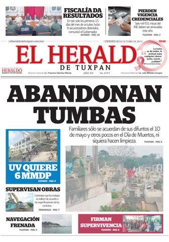 El Heraldo De Tuxpan 18 De Octubre De 2019 By Poza Acme Issuu