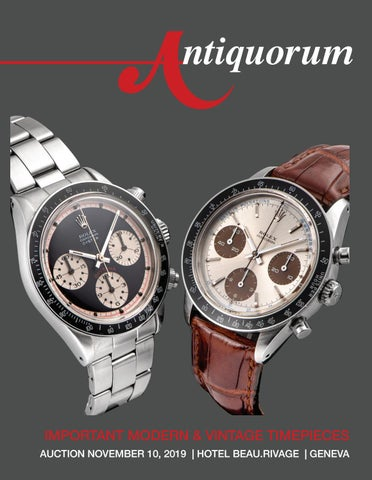 Auction November 10 2019 Geneva By Antiquorum Genève Sa