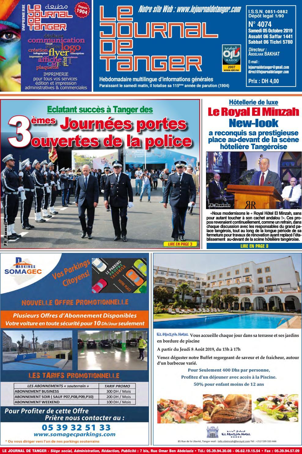 Le Journal De Tanger 05 Octobre 2019 By Le Journal De Tanger