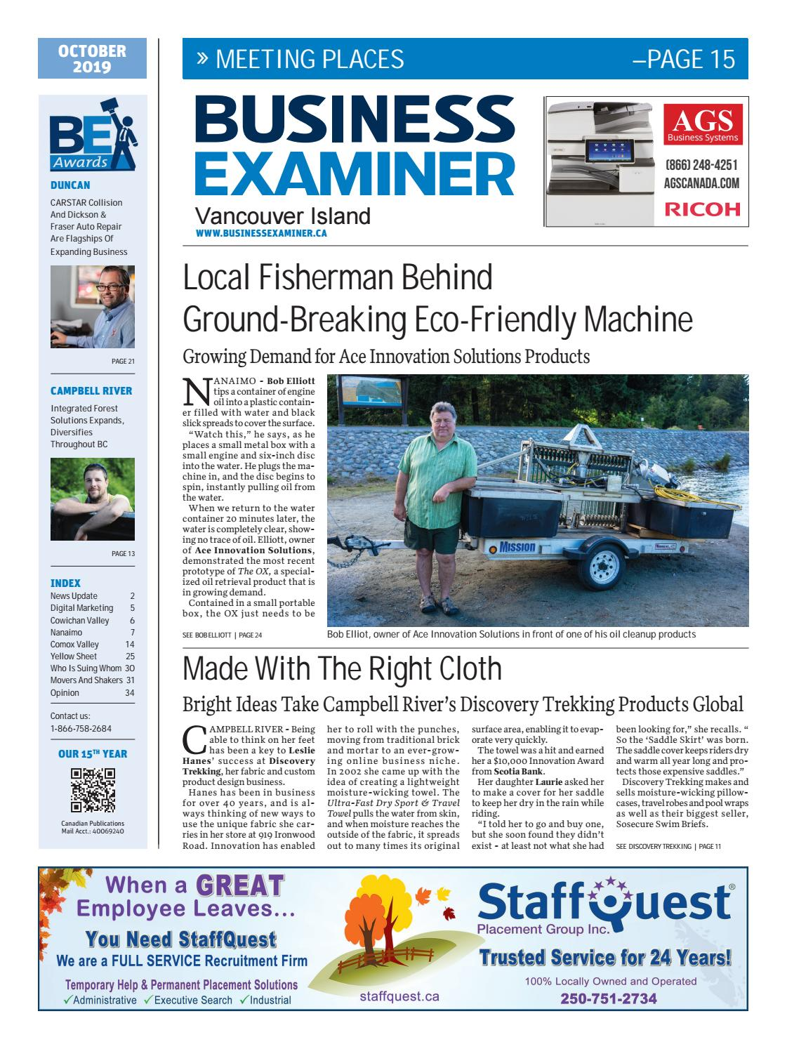 Business Examiner Vancouver Island October 2019 By Business Examiner News Group Issuu