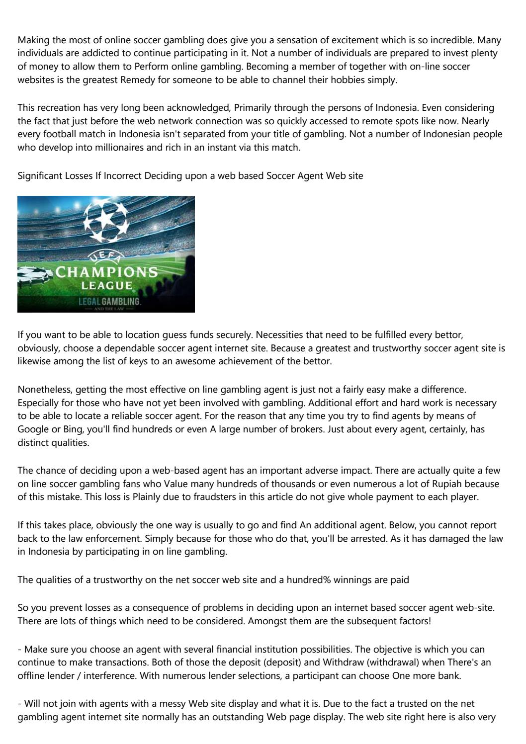 The Attributes Of Trustworthy On The Net Soccer Web Sites And Just About Anything One Hundred Victo By Forlenob5l Issuu