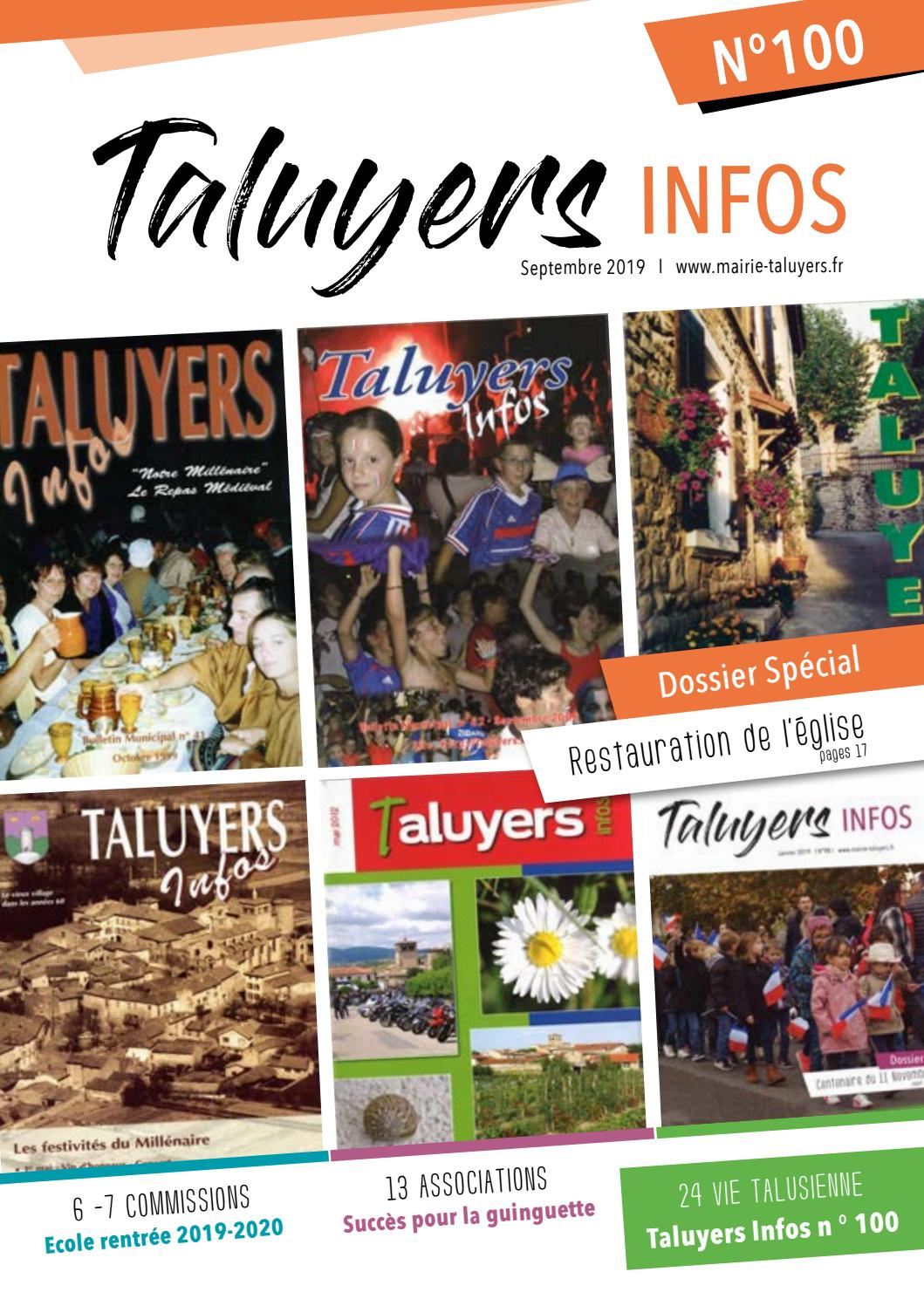 Taluyers Infos Septembre 2019 By Mairie De Taluyers Issuu