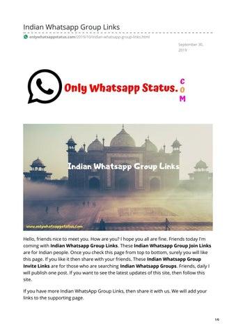 Indian Whatsapp Group Links by whatsappstatus - issuu