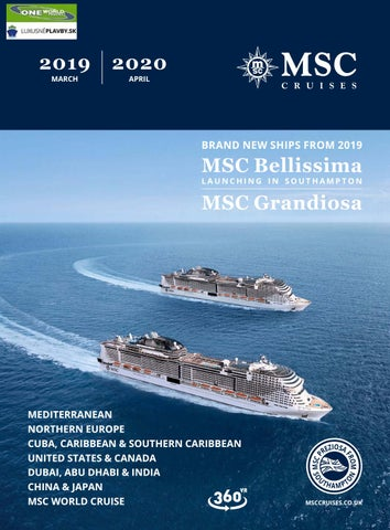 Cruise April 2020.Msc Cruises Catalog March 2019 April 2020 By
