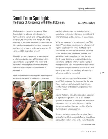 Page 39 of Small Farm Spotlight: the basics of aquaponics with Billy's Botanicals