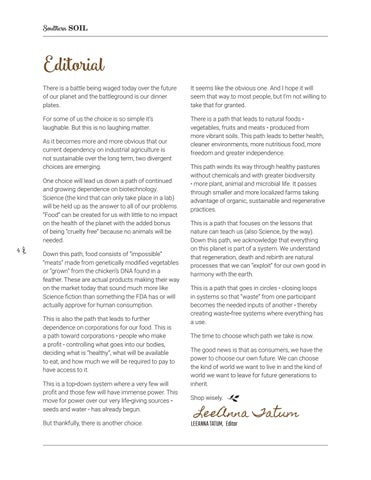 Page 4 of Letter from the editor