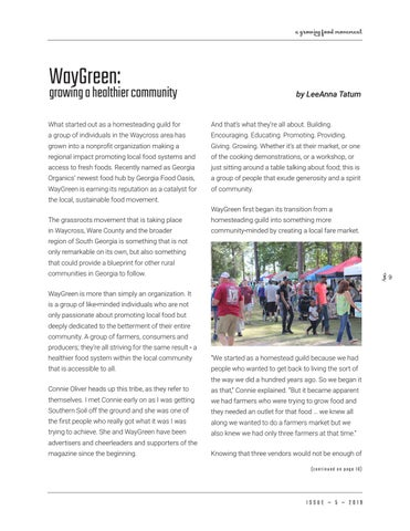 Page 9 of WayGreen: growing a healthier community