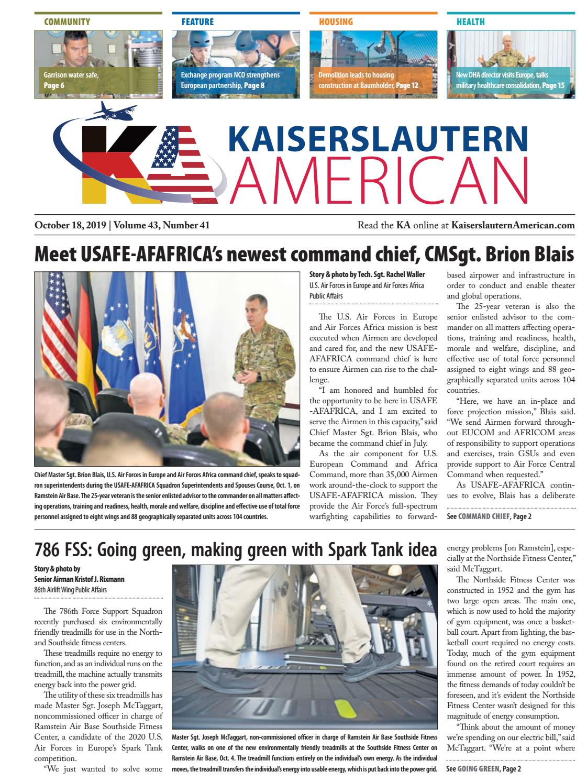 Kaiserslautern American October 18 2019 By Advantipro Gmbh Issuu