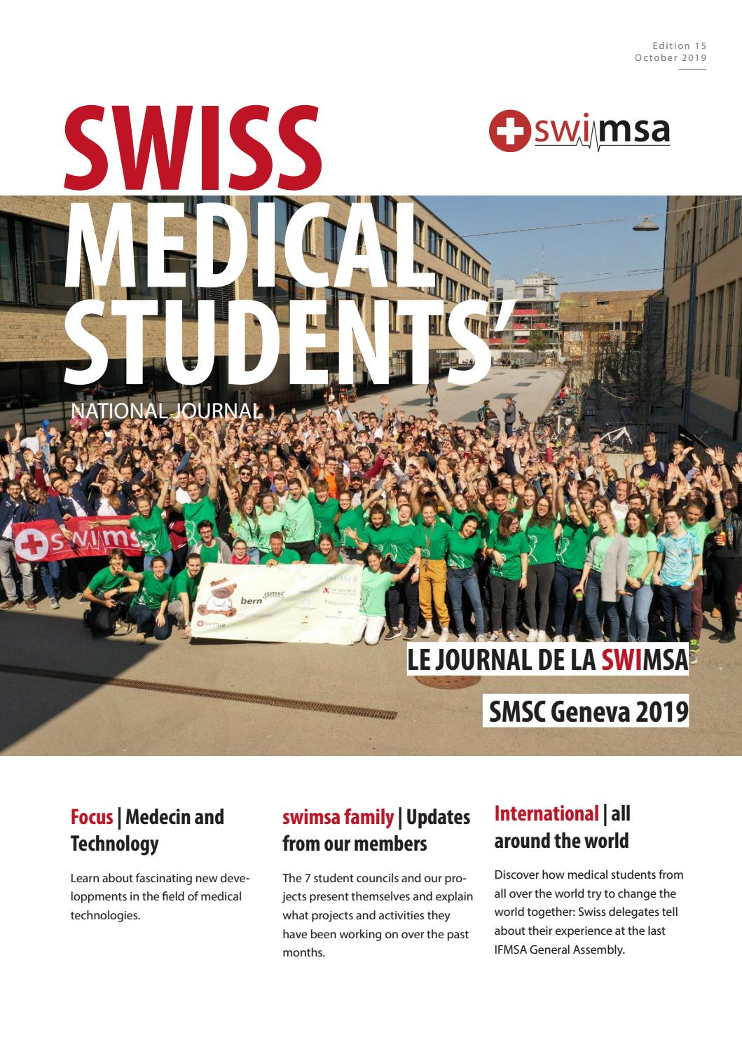 Swiss Medical Students National Journal Edition 15 By Swiss Medical Students Association Swimsa Issuu