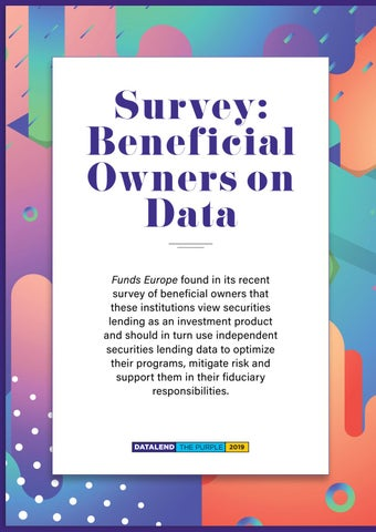 Page 6 of Survey: Beneficial Owners on Data