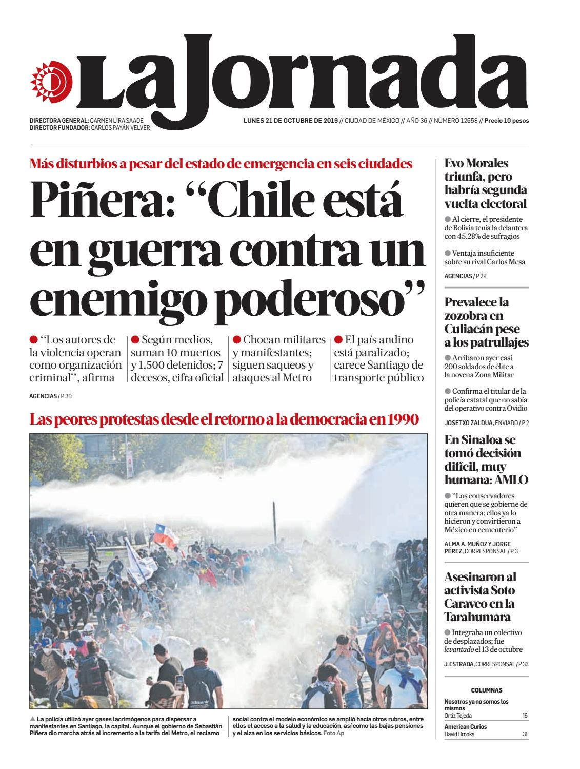 La Jornada 10 21 2019 By La Jornada Issuu