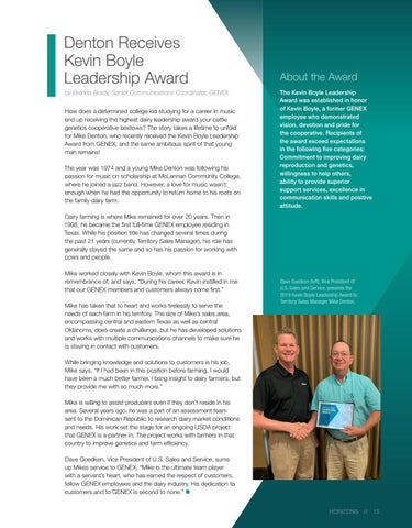 Page 15 of Denton Receives Kevin Boyle Leadership Award