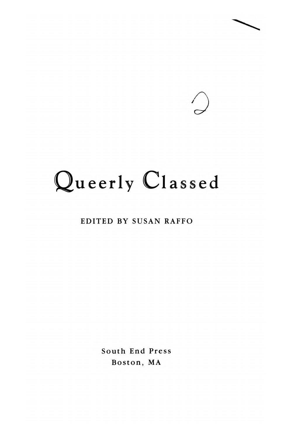 Queerly Classed By Susan Raffo Issuu