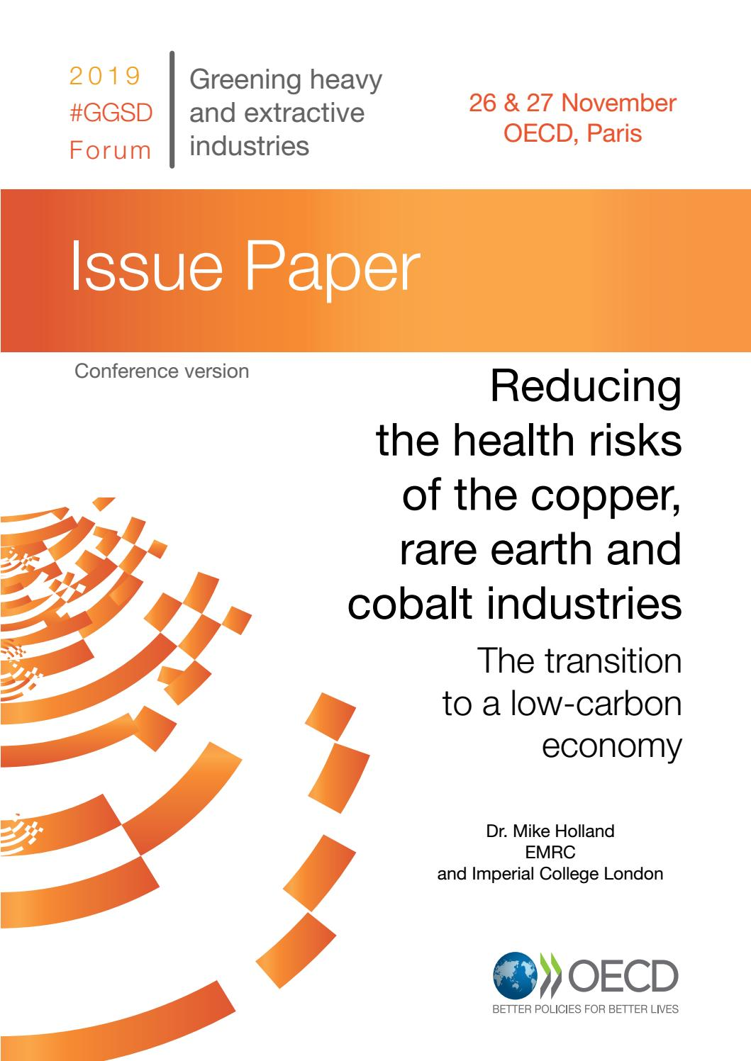 Reducing The Health Risks Of The Copper Rare Earth And Cobalt Industries By Oecd Issuu